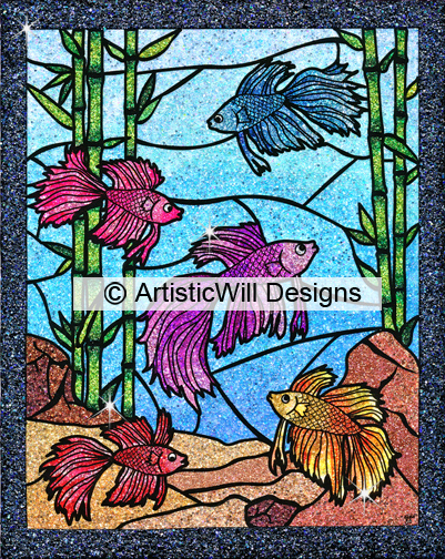 WP, 5Beta Fishes. art