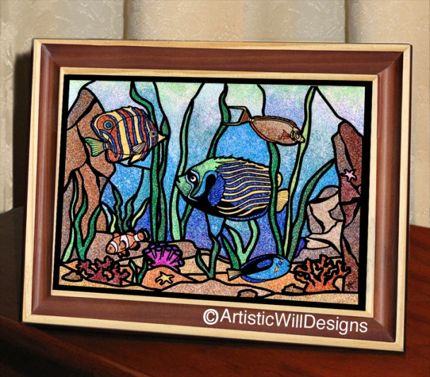WP, 8x10 Fishes frame