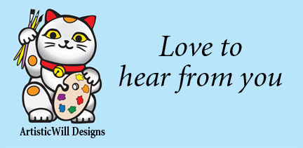 ArtisticWillDesigns, LOGO Neko cat, circle